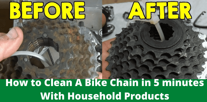 How to Clean A Bike Chain in 5 minutes With Household Products
