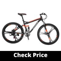Eurobike Full Suspension Mountain Bike 21-Speed Bicycle