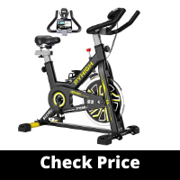 PYHIGH Indoor Cycling Belt Drive Stationary Bicycle